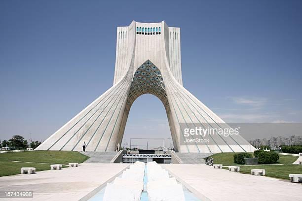 Middle East Iran Azadi freedom tower in Tehran