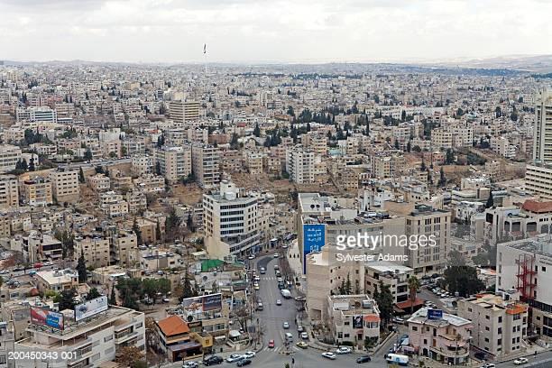 Middle East, Jordan, Amman, elevated view