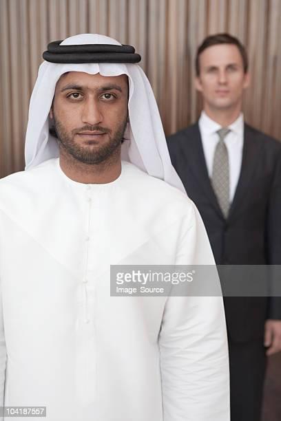 Middle eastern und western Geschäftsleute