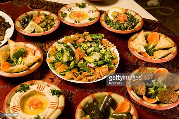 middle eastern appetizers - tabbouleh stock pictures, royalty-free photos & images