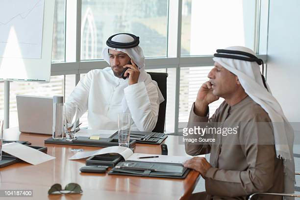Middle eastern businessmen in a meeting