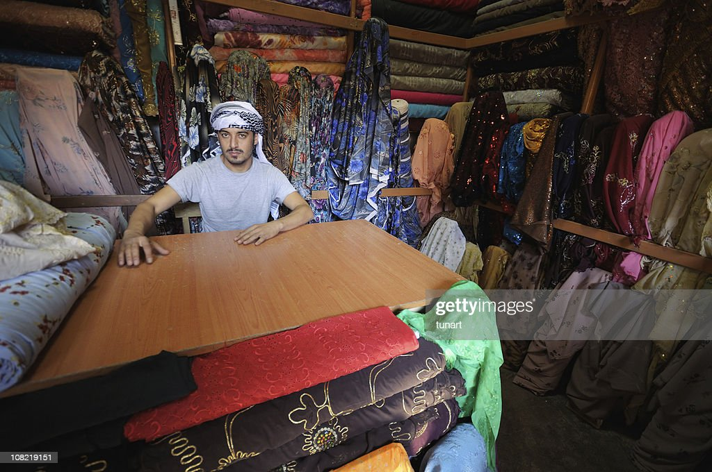 Middle Eastern Drygoods Store, Sanliurfa, Turkey : Stock Photo
