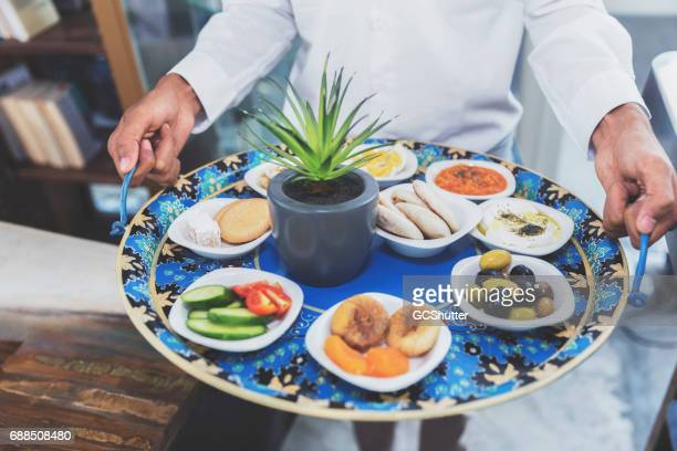 middle eastern food platter - ramadan stock pictures, royalty-free photos & images