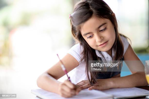 Middle Eastern Girl Studying