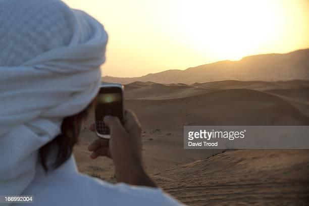 Middle Eastern man in Desert near Dubai