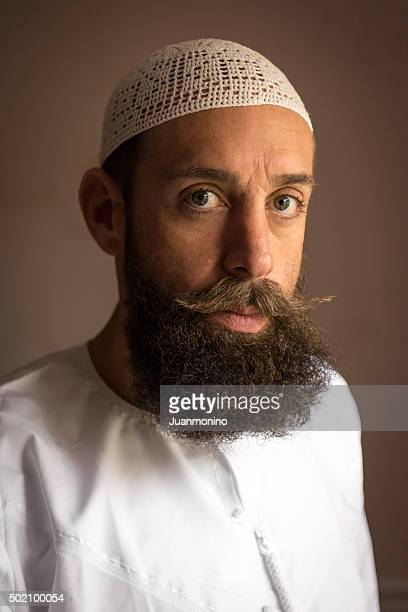 middle eastern man - imam stock photos and pictures