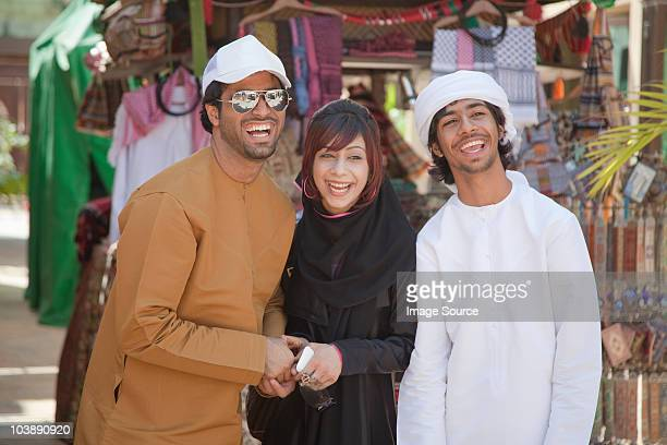 Middle Eastern people laughing
