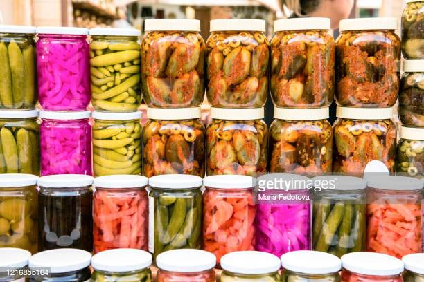middle eastern pickles - east stock pictures, royalty-free photos & images