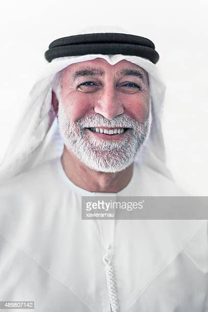 Middle Eastern senior man portrait