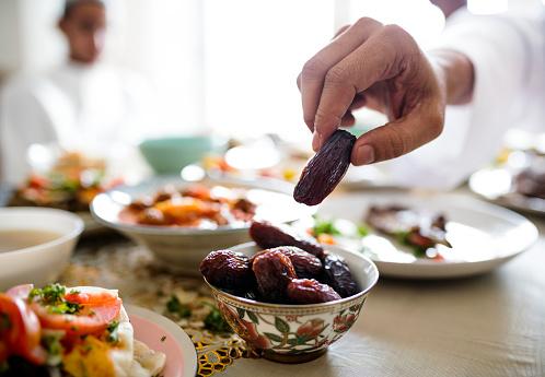 Middle Eastern Suhoor or Iftar meal 958638244