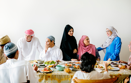 Middle Eastern Suhoor or Iftar meal 958638560