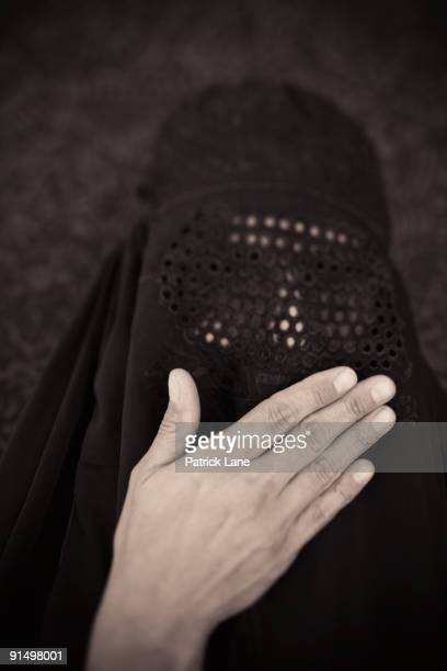 Middle Eastern woman in burka