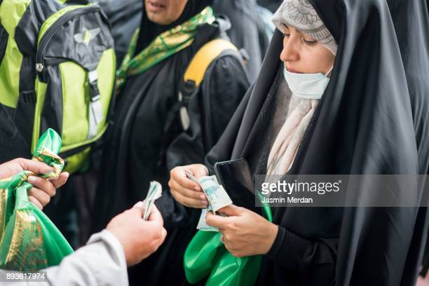 Middle Eastern woman on the street