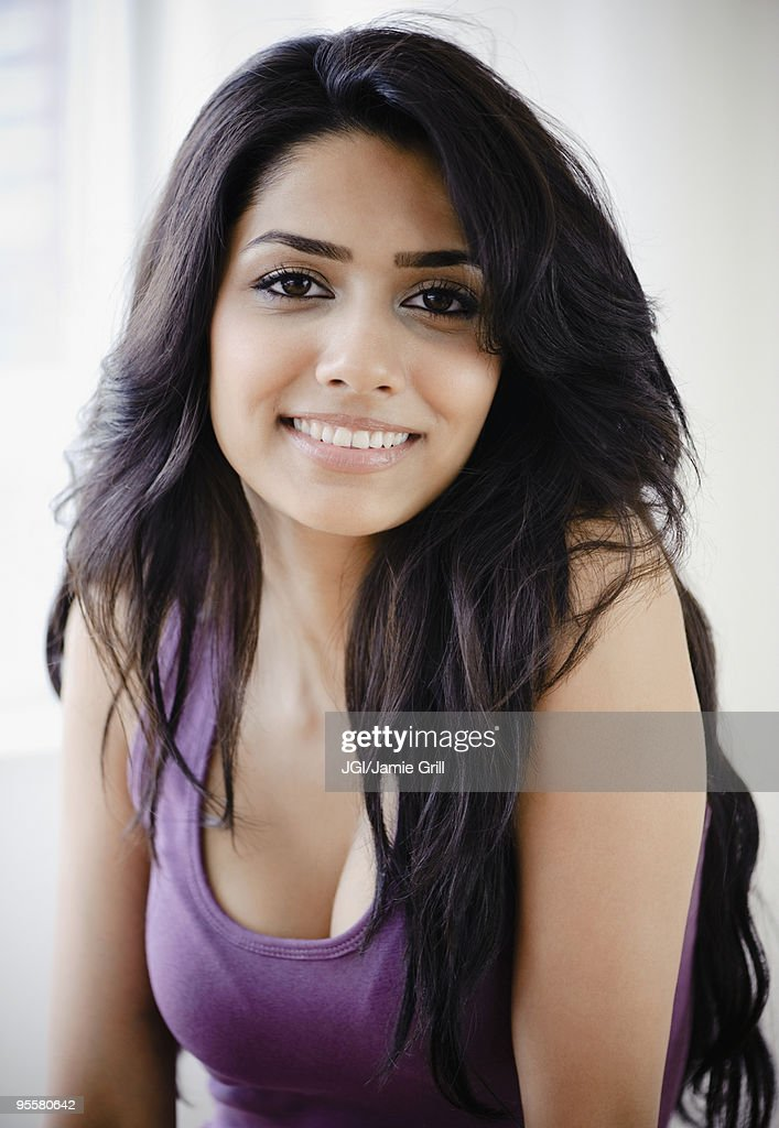 Middle Eastern Woman Smiling Stock Photo | Getty Images