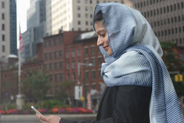 Middle eastern woman wearing ing