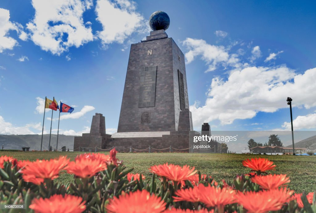 Middle of the world monument in Quito city, Ecuador : Stock Photo