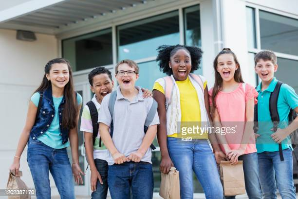 middle school students, boy with down syndrome - junior high student stock pictures, royalty-free photos & images