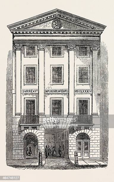 Middle Temple Gate Fleet Street London UK 1861