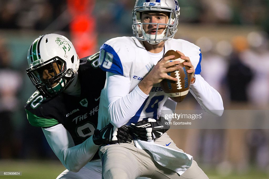 NCAA FOOTBALL: NOV 12 Middle Tennessee at Marshall : News Photo