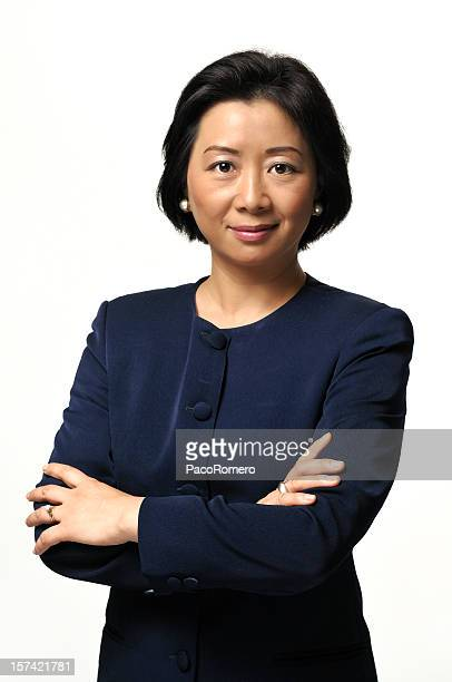 Middle-aged Asian businesswoman