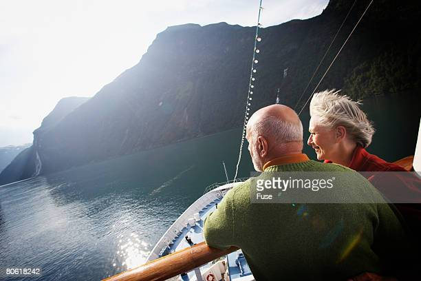 Middle-aged Couple on a Cruise Boat