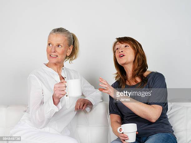 Middle-Aged Friends Having Coffee