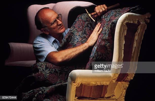 Middle-aged male upholsterer