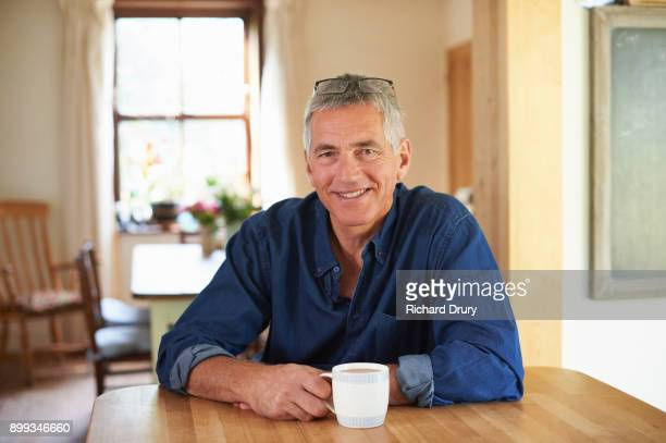 Middle-aged man at home