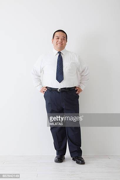 Middle-aged of japanese man wearing a suit