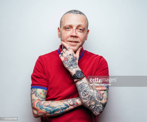 middle-aged punk rocker - punk rock ストックフォトと画像