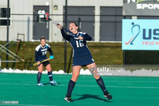 Middlebury Panthers Emma Johns against Franklin Marshall Diplomats during the Division III Women's Field Hockey Championship held at Spooky Nook...