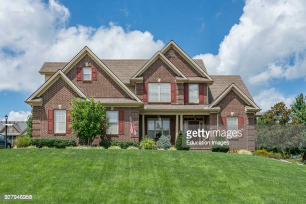 Middleclass American brick home in Kentucky