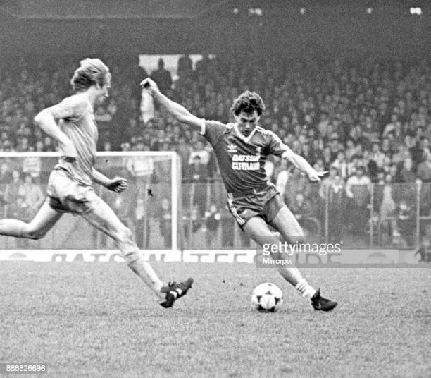 Middlesborough's new signing, Dave Thomas, shows his style to get past Manchester City's Norwegian international Aage Hareide. Middlesbrough v...
