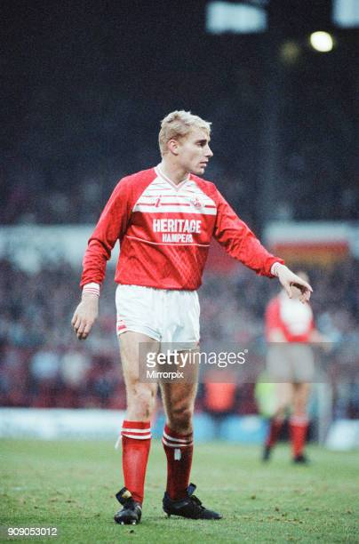 Middlesbrough 0-2 Leeds, Division Two league match at Ayresome Park, Saturday 9th December 1989. Stuart Ripley.