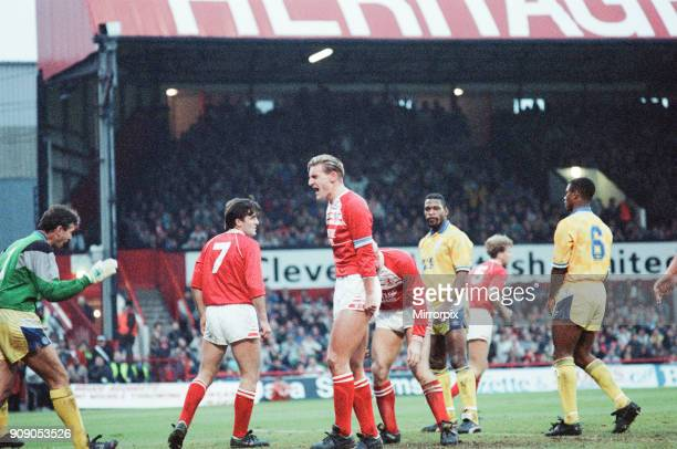 Middlesbrough 02 Leeds Division Two league match at Ayresome Park Saturday 9th December 1989 Bernie Slaven Tony Mowbray
