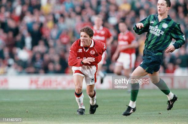 Middlesbrough 11 Leeds Premier league match at the Riverside Stadium Saturday 4th November 1995 pictured Juninho Paulista Brazilian attacking...