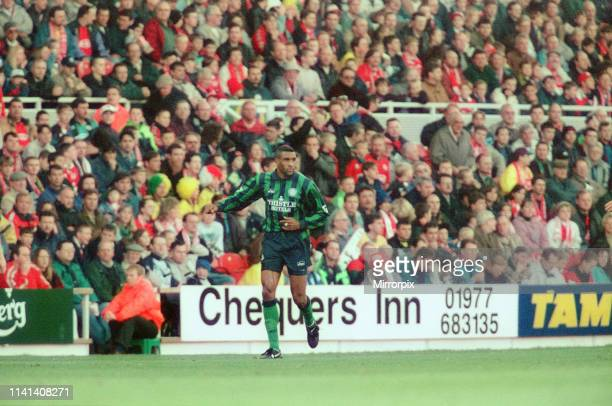 Middlesbrough 1-1 Leeds, Premier league match at the Riverside Stadium, Saturday 4th November 1995; pictured: Brian Deane Leeds United forward who...