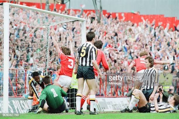 Middlesbrough 1-1 Notts County, League Division Two Play Off 1st Leg match at Ayresome Park, Sunday 19th May 1991. Goal.