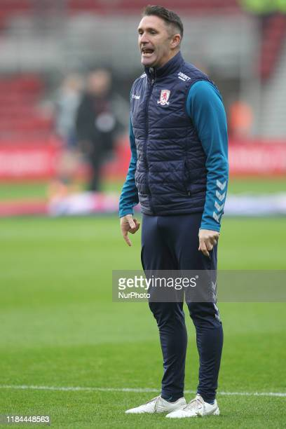 Middlesbrough Assistant Head Coach Robbie Keane during the Sky Bet Championship match between Middlesbrough and Hull City at the Riverside Stadium,...