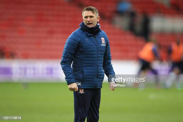 Middlesbrough Assistant Head Coach Robbie Keane during the Sky Bet Championship match between Middlesbrough and Luton Town at the Riverside Stadium,...