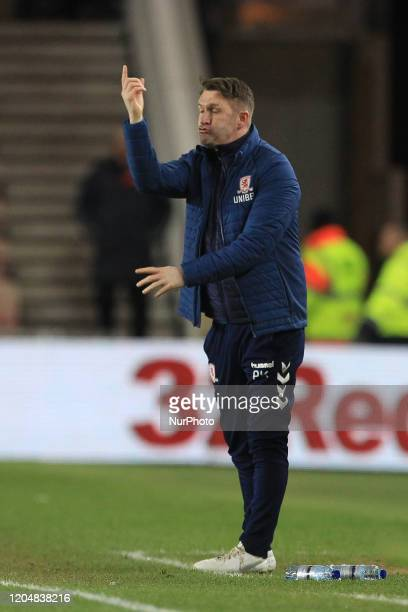 Middlesbrough Assistant Head Coach Robbie Keane during the Sky Bet Championship match between Middlesbrough and Nottingham Forest at the Riverside...