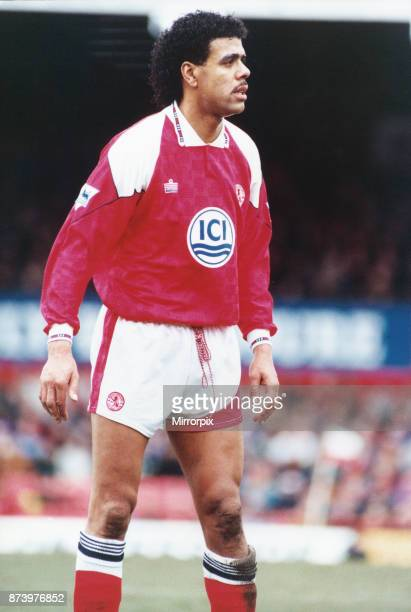 Middlesbrough born Chris Kamara in action against Nottingham Forest whilst on loan 20th February 1993