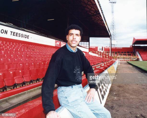 Middlesbrough born Chris Kamara is unveiled after signing on loan from Luton 19th February 1993