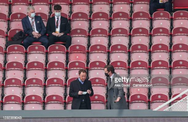 Middlesbrough chairman Steve Gibson takes his seat before the match during the Sky Bet Championship match between Middlesbrough and Queens Park...