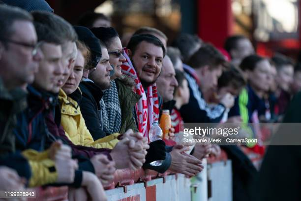 Middlesbrough fans enjoy the prematch atmosphere during the Sky Bet Championship match between Brentford and Middlesbrough at Griffin Park on...