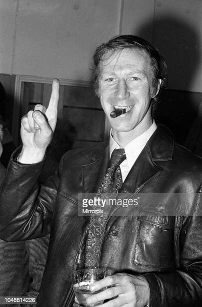 Middlesbrough F.C. 2 - 1 Oxford United F.C. Division Two match held at Ayresome Park. Jack Charlton, manager, celebrating. 23rd March 1974.