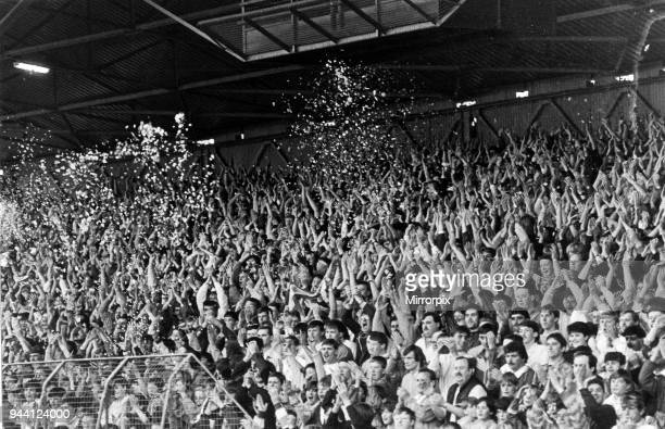 Middlesbrough FC fans at Ayresome Park celebrate after gaining promotion to the second division Final score Middlesbrough 0 0 Wigan 6th May 1987