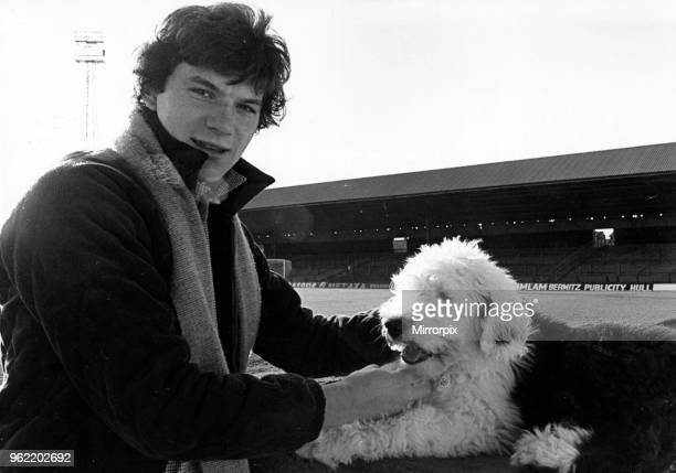 Middlesbrough FC footballer Alan Ramage with his Old English Sheepdog Syd 18th November 1978