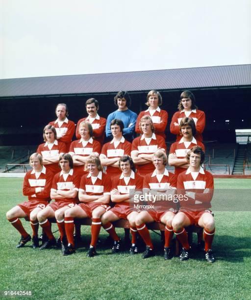 Middlesbrough FC team photograph Back row LR N Stiles J Craggs J Platt W Gates A Foggon Centre row LR P Brine J Hickton P Creamer S Boam G Souness...