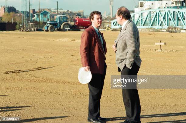 Middlesbrough Football Club. Commencement of building new stadium, Friday 28th October 1994. Steve Gibson, Owner, Chairman.